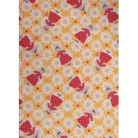 TORCHON JAUNE BIGOUDEN FLOWER (6010425)