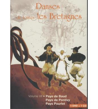 DVD DANSES DE TOUTES LE BRETAGNE 7 PAYS DE BAUD PONTIVY POURLET +CD