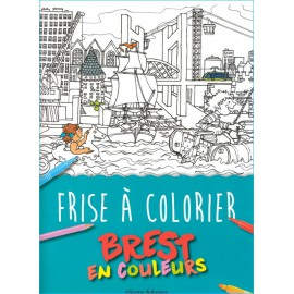 FRISE A COLORIER - BREST EN COULEURS