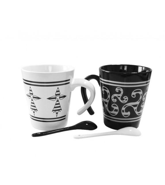 COFFRET 2 MUGS TRISKELL HERMINE GH167T