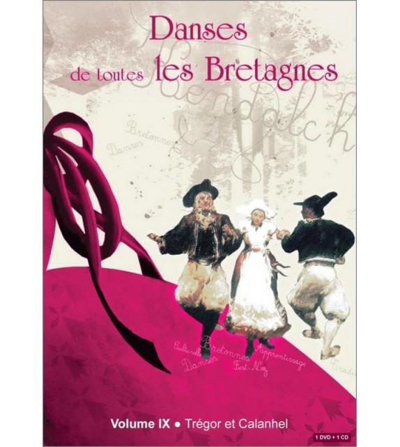 DVD DANSES DE TOUTES LES BRETAGNES 9 TREGOR ET CALANHEL + CD