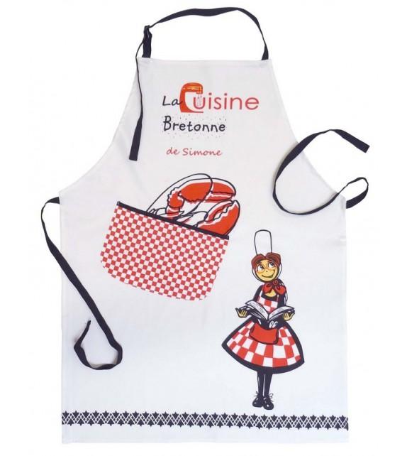 Tablier cuisine de simone - Tablier de cuisine plastifie ...