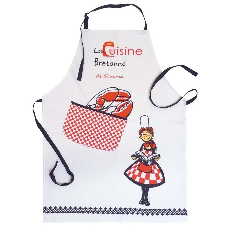 Tablier cuisine de simone for Tablier de cuisine plastifie