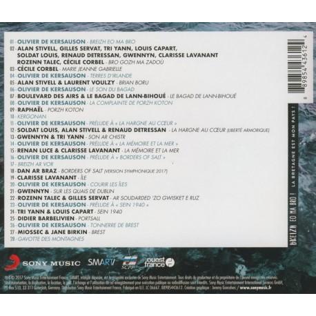CD BREIZH EO MA BRO ! - COMPILATION - PARUTION JUIN 2017