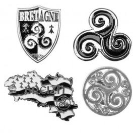 4 PIN'S BRETAGNE TRISKELL