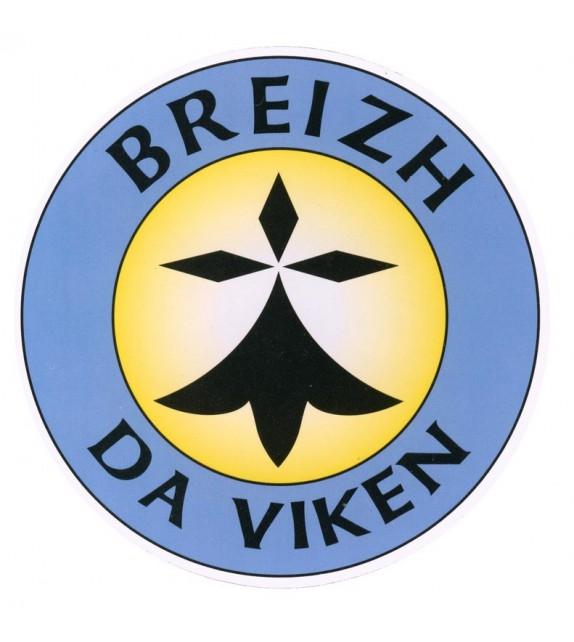 AUTOCOLLANT HERMINE BREIZH DA VIKEN