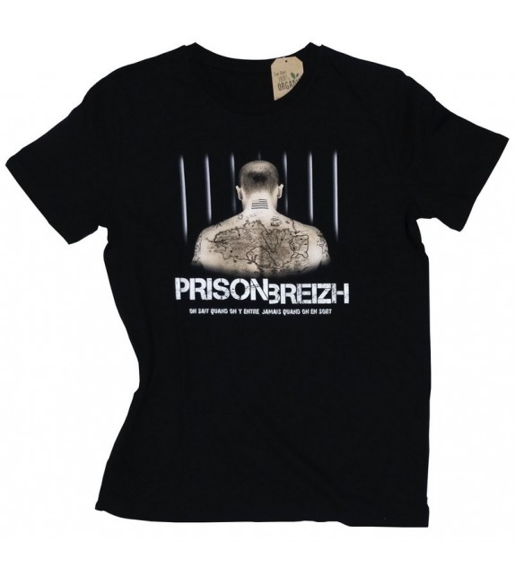 TEE SHIRT PRISON BREIZH NOIR