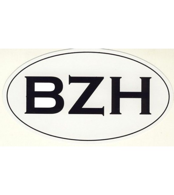 AUTOCOLLANT BZH Voiture (grand format)