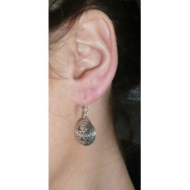 BOUCLES OREILLES TRISKELL ROND (9219)