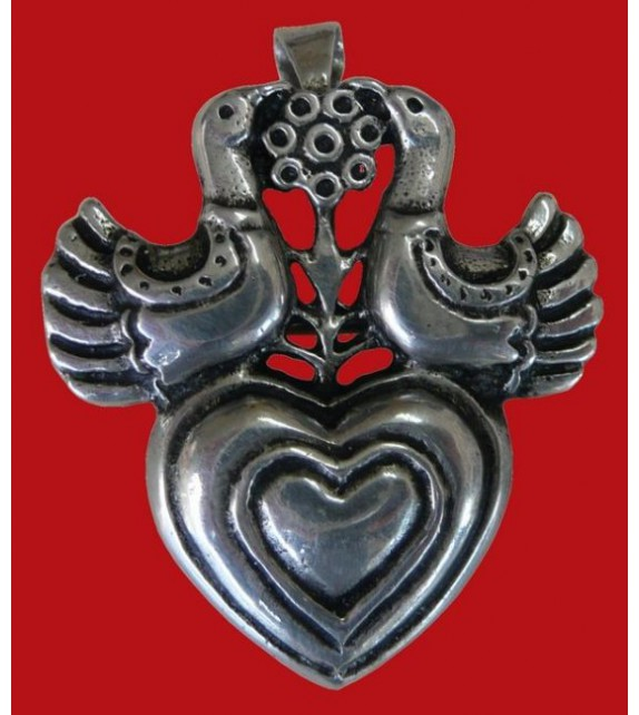 BROCHE PENDENTIF COEUR COLOMBERS - Toulhoat