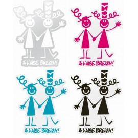 AUTOCOLLANT COUPLE BIGOUD A L'AISE BREIZH (6020214)