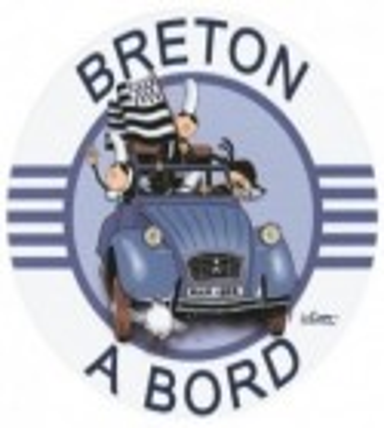 AUTOCOLLANT BRETON À BORD (6020736)