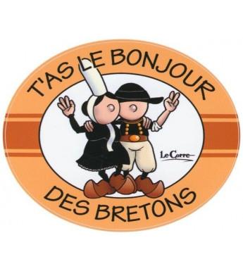AUTOCOLLANT T'AS LE BONJOUR DES BRETONS (6020738)