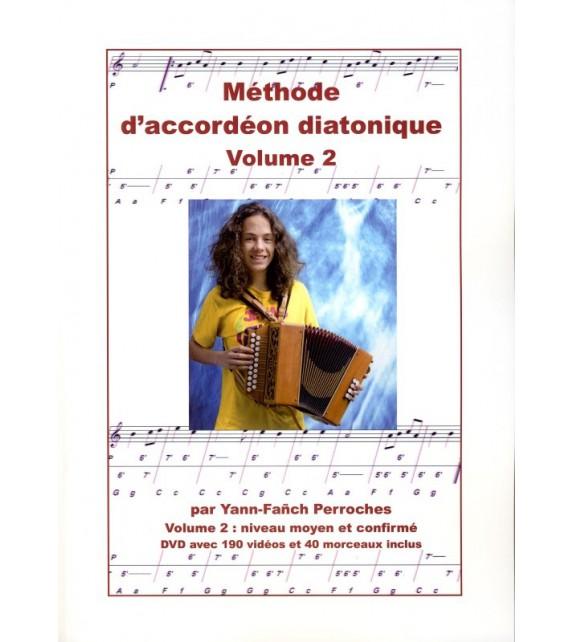 METHODE D'ACCORDEON DIATONIQUE - Volume 2, Moyen et confirmé
