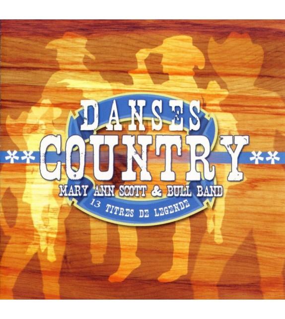 CD MARY ANN SCOTT ET BULL BAND - DANSES COUNTRY