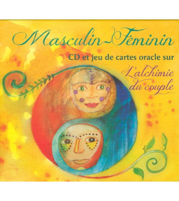CD MASCULIN/FÉMININ DISQUE ET JEU DE CARTES ORACLE SUR L'ALCHIMIE DU COUPLE