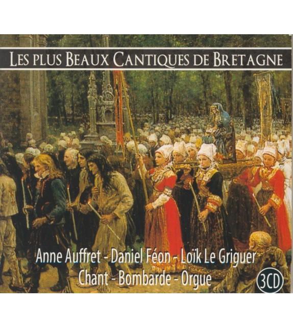 CD ANNE AUFFRET - LES PLUS BEAUX CANTIQUES DE BRETAGNE - Coffret 3 cds.