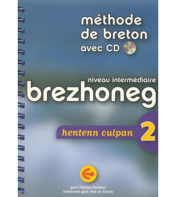 Méthode de breton (intermédiaire) BREZHONEG HENTENN OULPAN 2