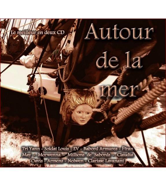 CD AUTOUR DE LA MER - Compilation Double CD