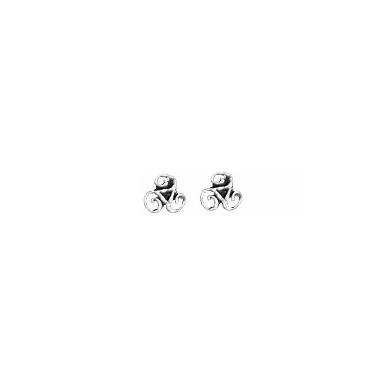 Boucles d/'oreille Mini-Triskel de Bretagne