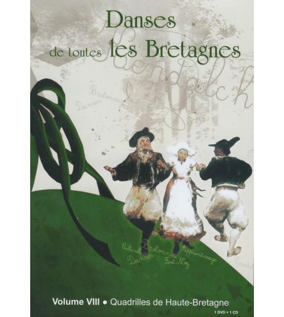DVD DANSES DE TOUTES LES BRETAGNES 8 QUADRILLES DE HAUTE-BRETAGNE+ CD