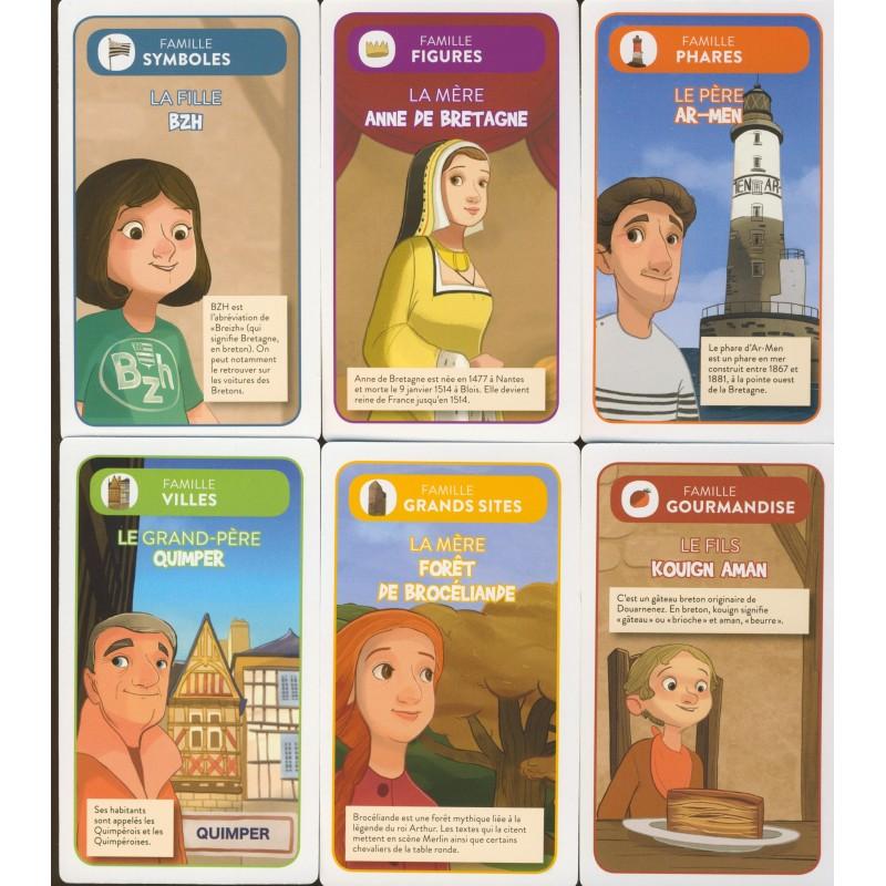 Jeu 7 Familles Bretagne Jeux De Societe Estelle Rattier Geste Editions