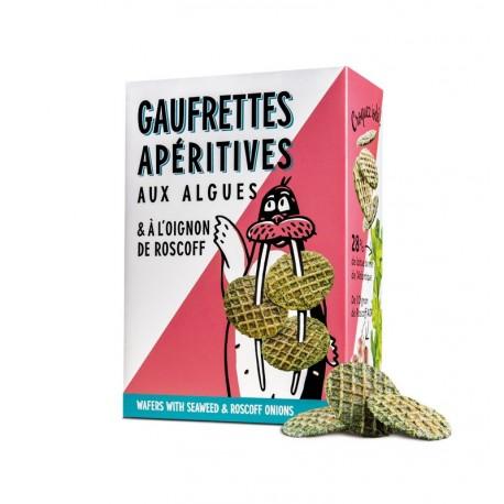 GAUFRETTES APÉRITIVES AUX ALGUES & OIGNON DE ROSCOFF