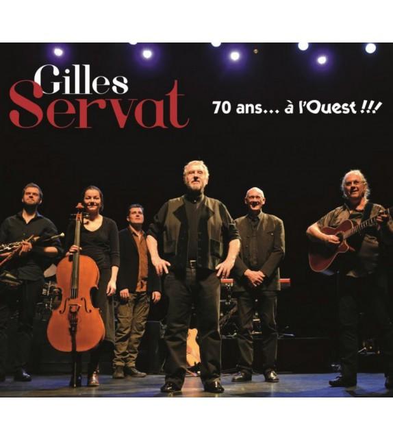 VINYLE GILLES SERVAT - 70 ANS A L'OUEST (double vinyle)