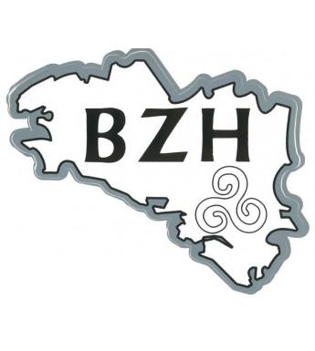 AUTOCOLLANT CARTE BZH TRISKELL