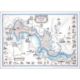 CARTE DE L'ÎLE DE SEIN et de ses fortunes de mer