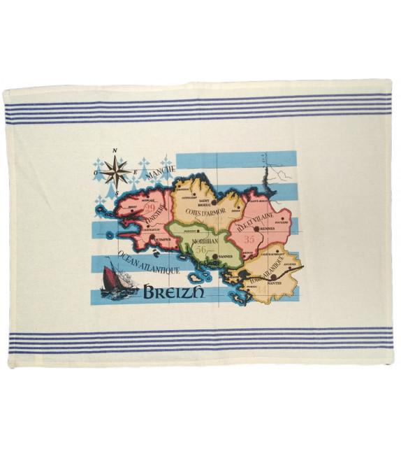 TORCHON - Carte de Bretagne
