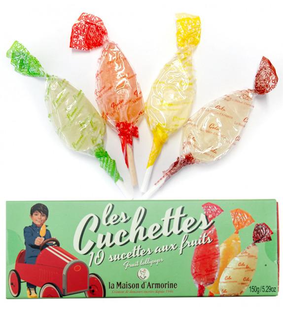 """LES """"CUCHETTES"""" - 10 sucettes au fruit"""
