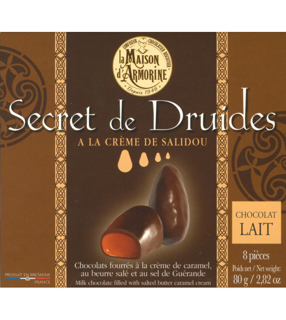 MENHIRS EN CHOCOLAT AU LAIT, à la crème de caramel