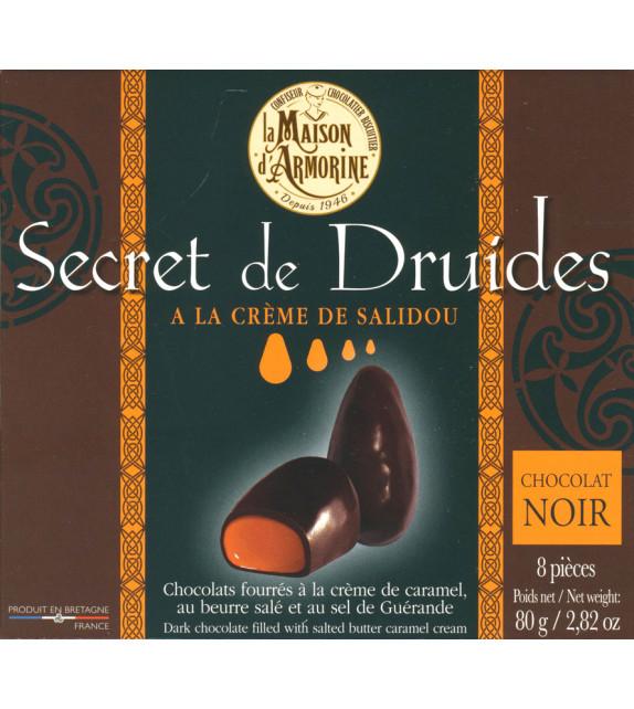MENHIRS EN CHOCOLAT NOIR, à la crème de caramel