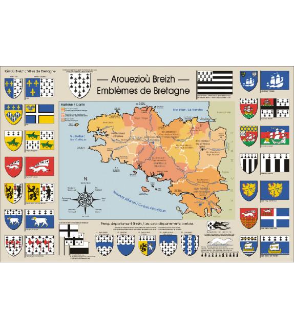 AFFICHE - Emblèmes de Bretagne