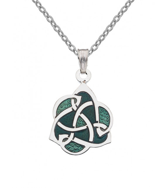 PENDENTIF Spirale celtique verte