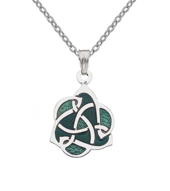 PENDENTIF Celtique émaillé vert