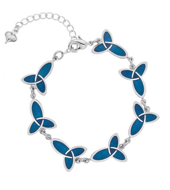 BRACELET - Nœuds Celtiques Bleus