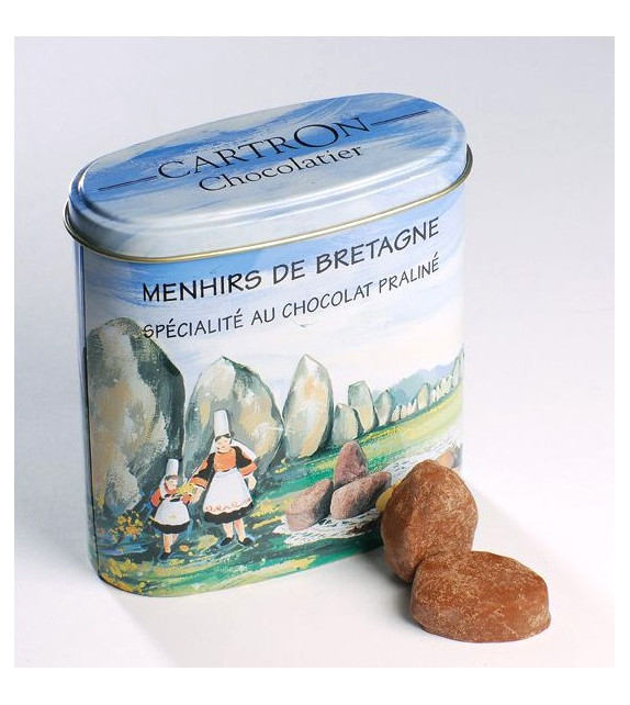 MENHIRS DE BRETAGNE, Spécialité au chocolat praliné (Sachet 150g)