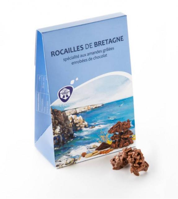 ROCAILLES DE BRETAGNE, Amandes grillées au chocolat (Ballotin 120g)
