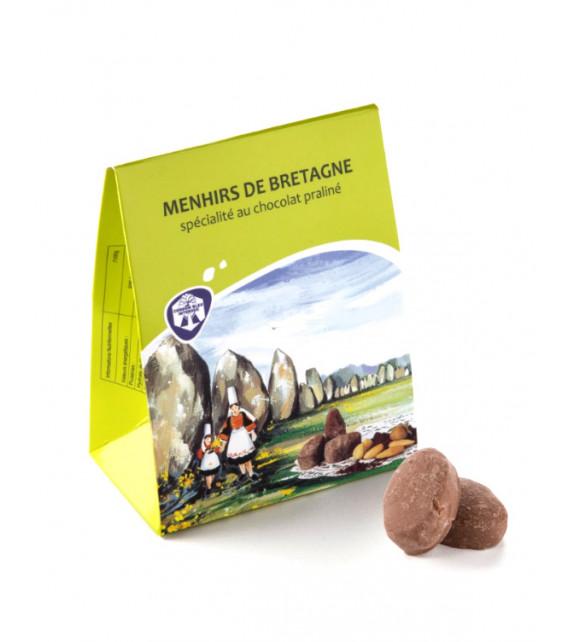 MENHIRS DE BRETAGNE, Spécialité au chocolat praliné (Sachet 100g)