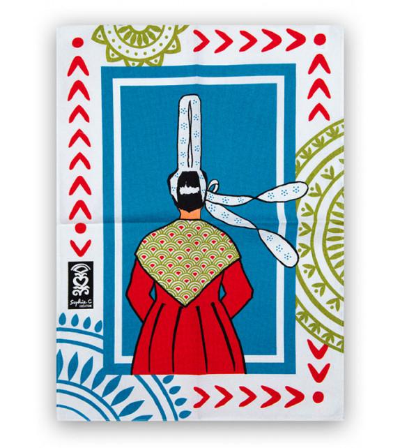 TORCHON -Bretonne robe rouge