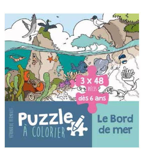 LE BORD DE MER - 3 Puzzles à colorier
