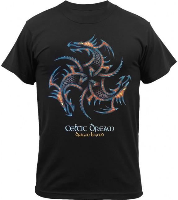 TEE-SHIRT TRISKEL 3 DRAGONS - Celtic Dream