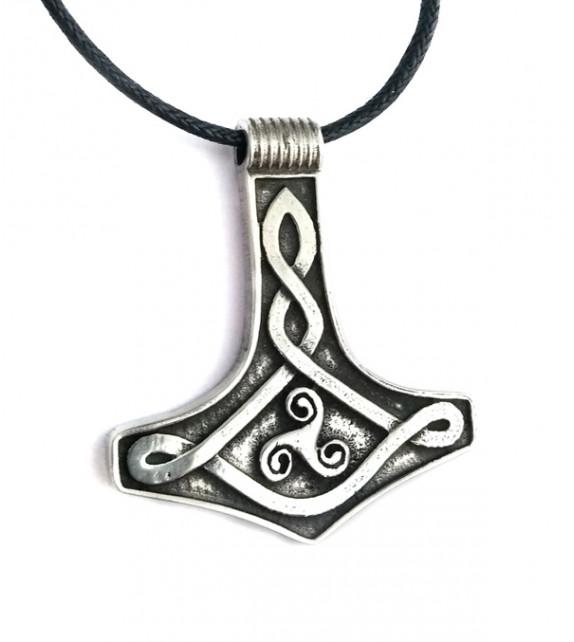 PENDENTIF MARTEAU DE THOR, symbole triskel