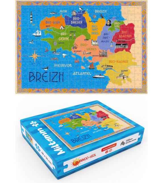 MILTAMM 280 (PUZZLE 280 PIÈCES) - Carte de Bretagne