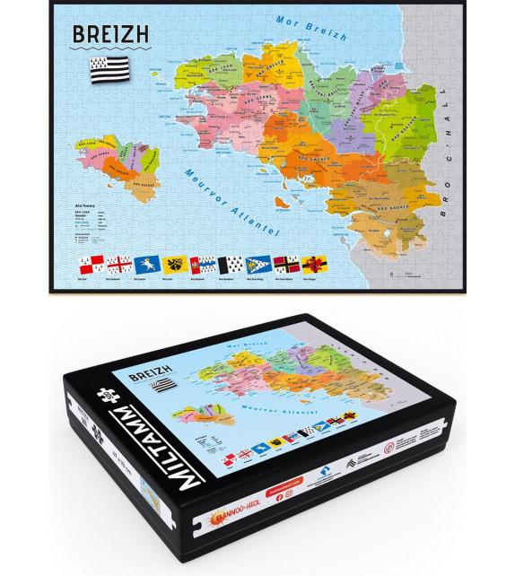 MILTAMM 500 (PUZZLE 500 PIÈCES) - Carte de Bretagne